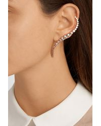 Ryan Storer Pink Rose Gold-Plated Swarovski Crystal Ear Cuff And Stud Earring