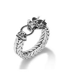 John Hardy   Black Dragon Head Bracelet On Extralarge Rectangular Chain   Lyst