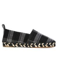 Proenza Schouler - Black Plaid Wool and Leather Esparilles - Lyst