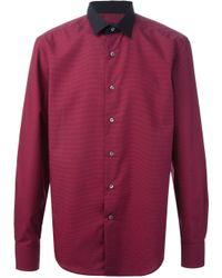 Lanvin - Purple Micro Dot Shirt for Men - Lyst