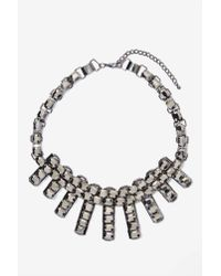 Nasty Gal | Metallic Night Fever Rhinestone Necklace | Lyst