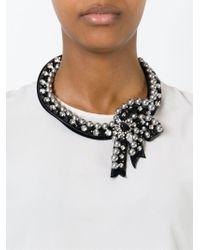 Shourouk | Black 'bow' Necklace | Lyst