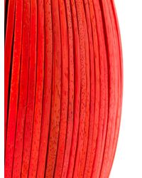 Monies Red Wooden Discs Oversized Cuff