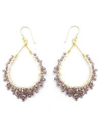 Nakamol | Multicolor Crystal Tears Earrings-amethyst | Lyst