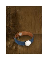 Denim & Supply Ralph Lauren - Blue Suede-Coin Bracelet - Lyst