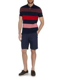 Howick | Blue Seneca Tonal Block Stripe Polo for Men | Lyst