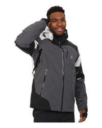 Spyder | Black Leader Jacket for Men | Lyst