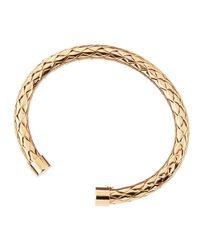 Roberto Coin - Metallic 18k Rose Gold Mesh Bangle - Lyst