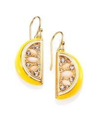kate spade new york - Yellow Lemon Drop Earrings - Lyst