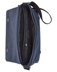 Fossil - Blue Aiden Nylon Messenger Bag for Men - Lyst