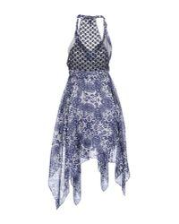 Guess - Blue Short Dress - Lyst