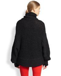 Helmut Lang - Black Opacity Intarsia Slouchy Turtleneck Sweater - Lyst