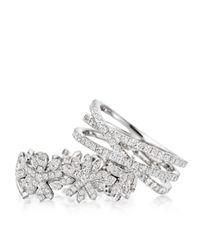 Astley Clarke - Metallic Diamond Triple Wrap Ring - Lyst