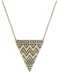 House of Harlow 1960 - Metallic Pavé Tribal Triangle Pendant Necklace - Lyst
