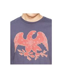 Denim & Supply Ralph Lauren Blue Cotton Eagle Appliqué T-shirt for men