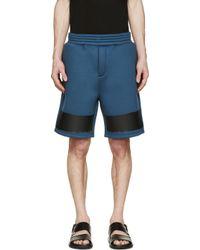 Kris Van Assche Blue Ssense Exclusive Dark Teal Neoprene Shorts for men