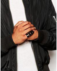 ASOS - Hinged Ring In Matte Black for Men - Lyst