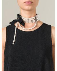 Lanvin - White Pearls Choker - Lyst