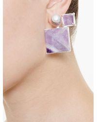 Volha | Multicolor Geometric Earrings | Lyst