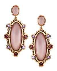 Stephen Dweck | Pink Mixed Gem Oval Drop Earrings | Lyst