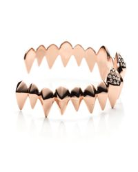 Alexis Bittar Pink Liquid Rose Gold Faceted Spear Cuff