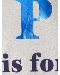 Être Cécile | Gray 'p Is For Parisienne' T-shirt | Lyst