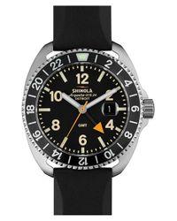 Shinola - Black 'rambler' Dual Time Rubber Strap Watch for Men - Lyst
