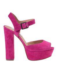 Steve Madden | Purple Jillyy Platform Sandal Fuchsia Suede | Lyst