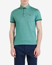Ted Baker - Green Oxford Polo Shirt for Men - Lyst