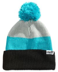 Neff | Black Snappy Ombre Striped Beanie for Men | Lyst