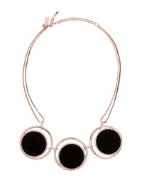 Kate Spade | Black In The Spotlight Necklace | Lyst
