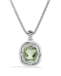 David Yurman - Metallic Labyrinth Medium Pendant With Prasiolite - Lyst
