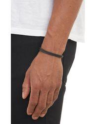 Bottega Veneta - Black Intrecciato Leather Bracelet for Men - Lyst