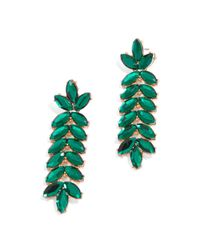BaubleBar | Green Jeweled Vine Drops | Lyst