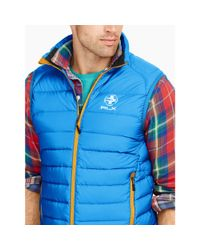 Ralph Lauren | Blue Water-repellent Down Vest for Men | Lyst