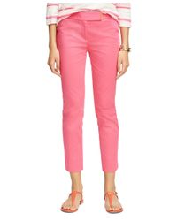 Brooks Brothers | Pink Natalie Fit Cotton Pants | Lyst