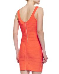 Parker Black - Red Renee Body-conscious Crystal-neck Dress - Lyst