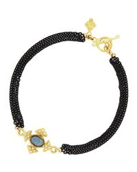 Armenta | Black Maltese Cross Opal & Diamond Bracelet | Lyst