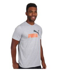 PUMA - Gray No1 Logo Performance Tee for Men - Lyst