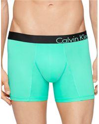 Calvin Klein | Green Microfiber Boxer Briefs for Men | Lyst