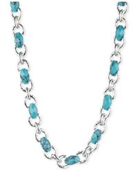 Jones New York | Blue Silver-tone Faux-turquoise Collar Necklace | Lyst