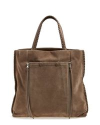 AllSaints | Brown 'fleur De Lis North/south' Tote | Lyst