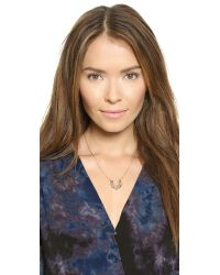 Pamela Love | Pink Rose Gold-plated Mini Spike Necklace | Lyst