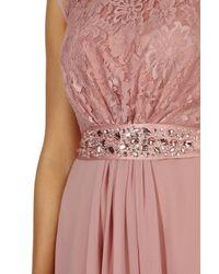 Coast - Pink Lori Lee Lace Short Dress - Lyst