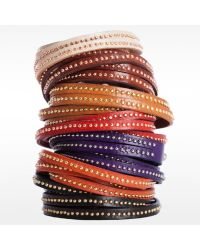 Linea Pelle | Red Double Wrap Stud Bracelet | Lyst