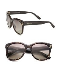 Jimmy Choo - Brown Nurias 54mm Square Sunglasses - Lyst