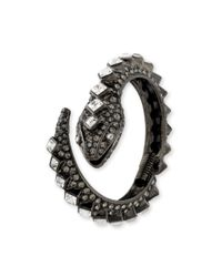 Kenneth Jay Lane | Multicolor Hematite And Crystal Snake Bracelet | Lyst