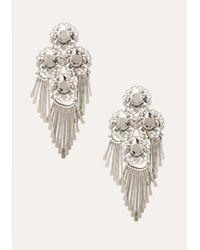 Bebe | Metallic Crystal & Fringe Earrings | Lyst