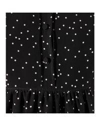 Saint Laurent - Black Silk Shirt Dress - Lyst