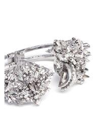 Erickson Beamon | Metallic The Shining Spikes And Crystals Embellished Bracelet | Lyst